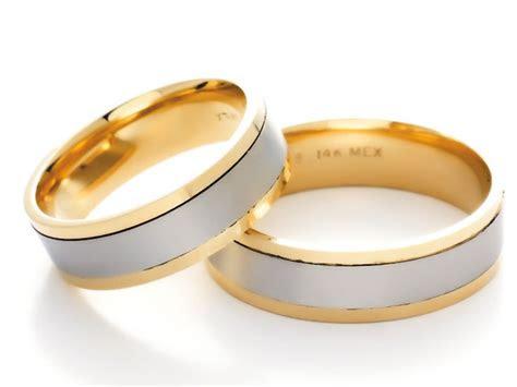 anillos de matrimonio de oro blanco  amarillo anillos