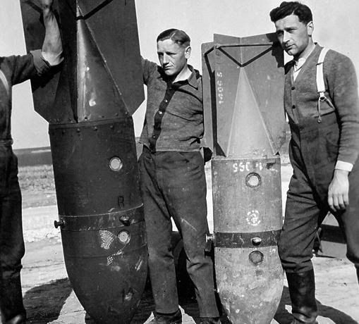 Bombas usadas en los Stukas
