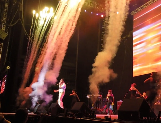 "Pyrotechnics and Propane Flames at ""People en Espanol Festival"" for Daddy Yankee and Tito The Bambino"