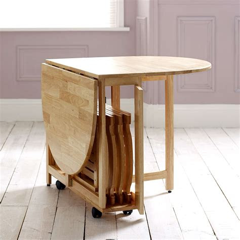 choose  folding dining table   small space adorable