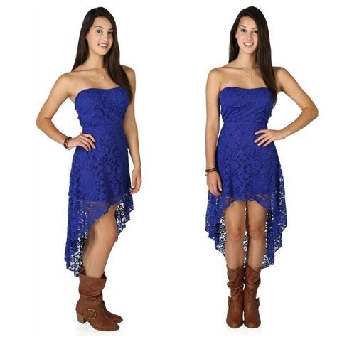 Cheap High Quality Royal Blue High Low Prom Dresses