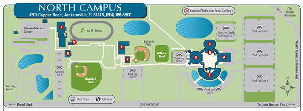 Fscj North Campus Map Fscj North Campus Map | Time Zone Map