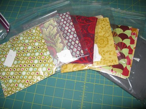 cut fabric for Cosmic Burst QAL/Precious QAL