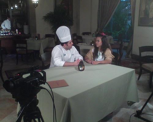 Hostess Fay interviewing Lebanese Chef Ibrahim