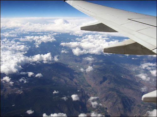 The flight from Vancouver to Toronto