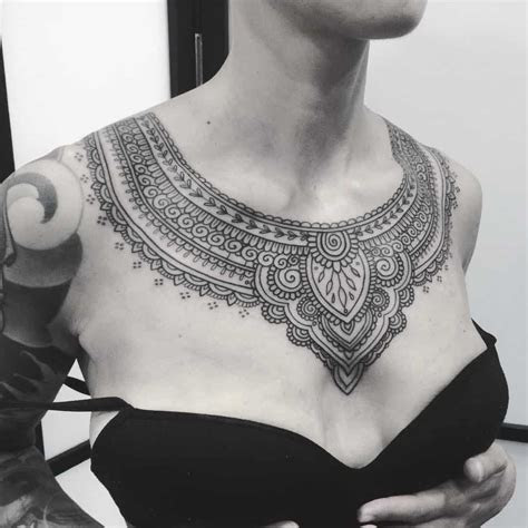 chest tattoos women draw approving eyes ritely