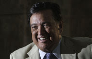 Former New Mexico Gov. Bill Richardson speaks during an interview with The Associated Press at the National hotel in Havana, Cuba,Thursday Sept. 8, 2011. Richardson said Thursday night that Cuban officials have denied his request to meet with jailed U.S. subcontractor Alan Gross, dashing hopes that the American might be freed soon. (AP Photo/Franklin Reyes)
