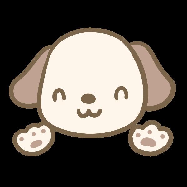 耳が茶色い犬のイラスト かわいいフリー素材が無料のイラストレイン