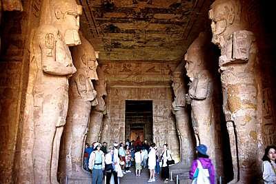 Ramses II's temple, inside central aisle