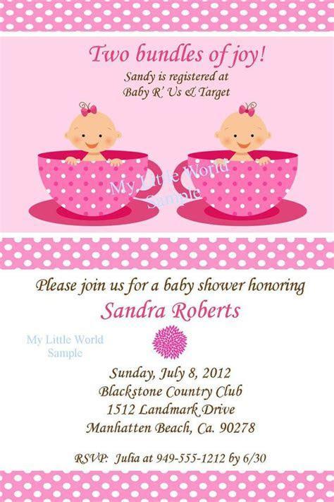 Twins Baby Shower Invitations Wording