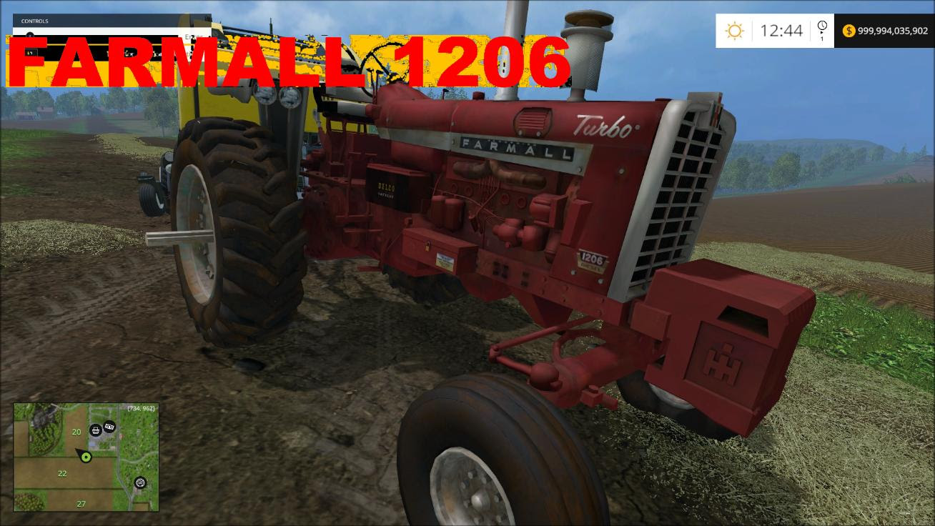 Farmall 1206 V1 Tractor Farming Simulator 19 17 15 Mod