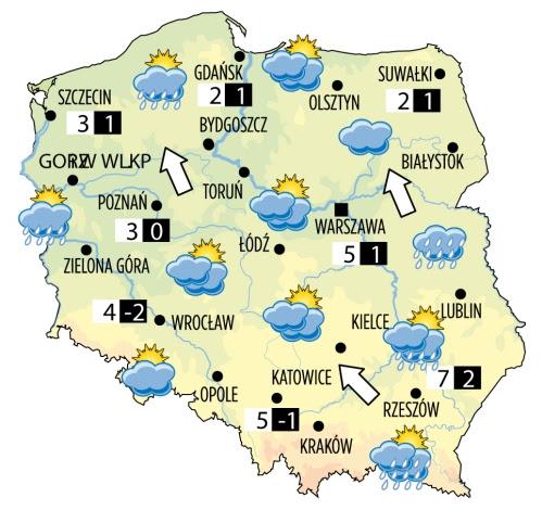 mapa pogody polska Polska Mapa Pogody | Mapa