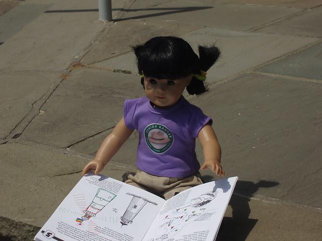 Doing her Jr. Ranger booklet