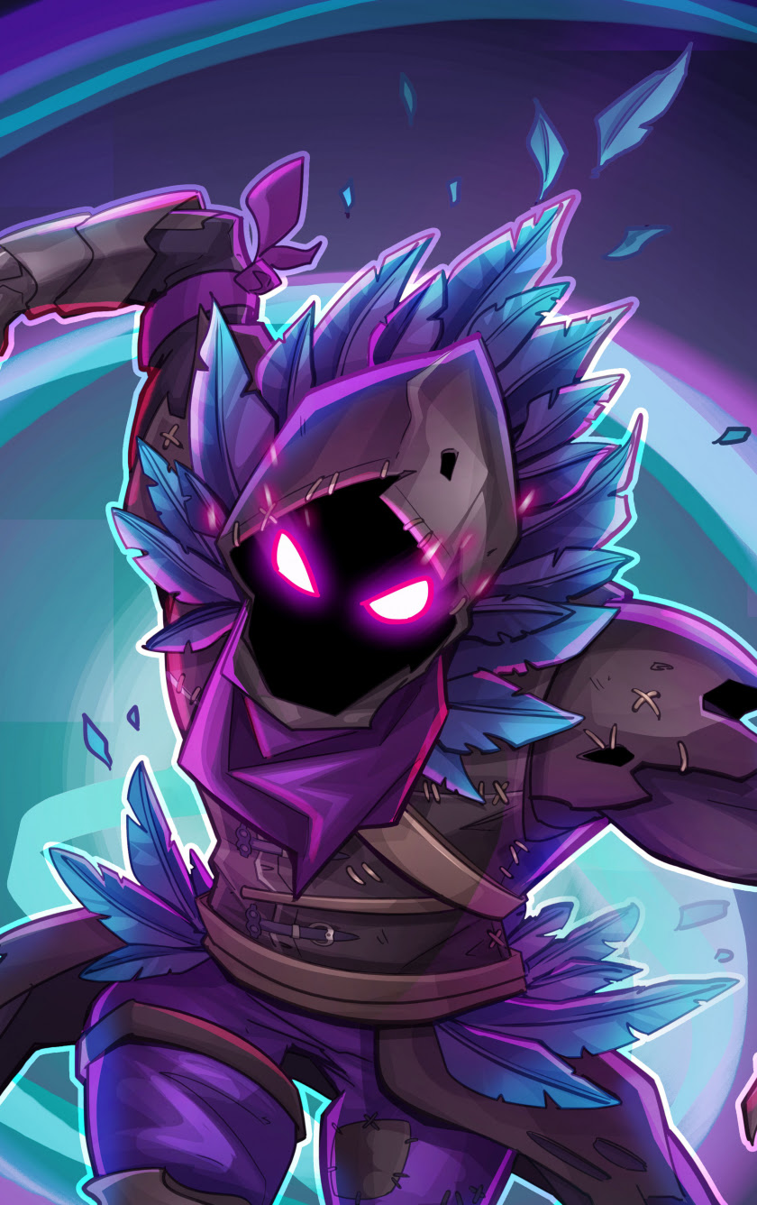 Download 840x1336 wallpaper raven, fortnite battle royale ...