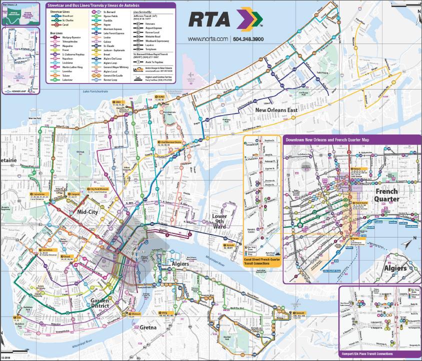 New Orleans Transit Map Bnhspine Com