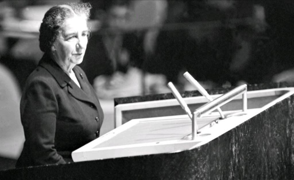 Golda Meir, l'oratrice