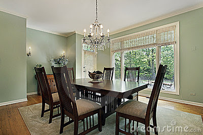 Dining Rooms Green Walls | FURNITURE