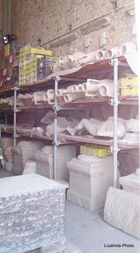 Гипсовые фигуры погибших в Помпеях