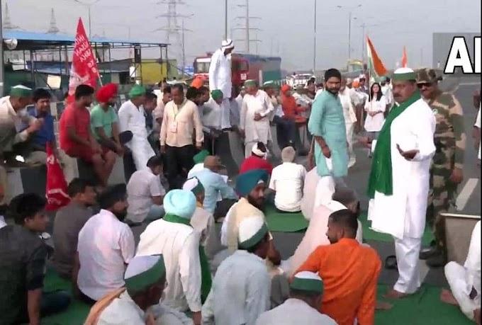 Bharat Bandh Live: किसानों का भारत बंद शुरू, गाजीपुर-शंभू बॉर्डर पर NH-24 जाम, चप्पे-चप्पे पर पुलिस तैनात