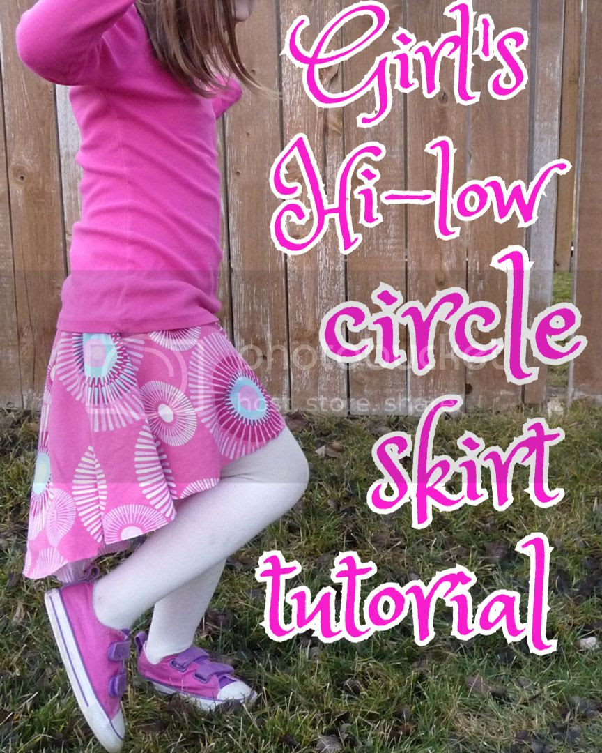 girl's hi low circle skirt sewing tutorial