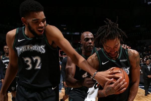 269adcaaeb9 Google News - Derrick Rose scores 50 as Timberwolves beat Jazz 128 ...
