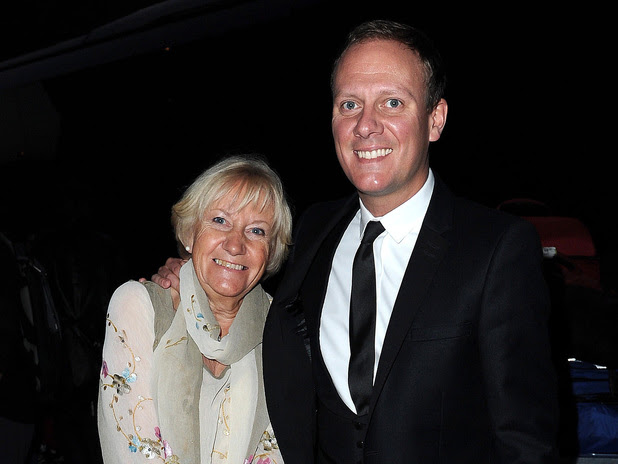 Antony Cotton and mum Enid Dunn at the Genesis Ball 2012