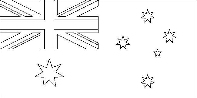Ausmalbilder Flagge, bild Australien