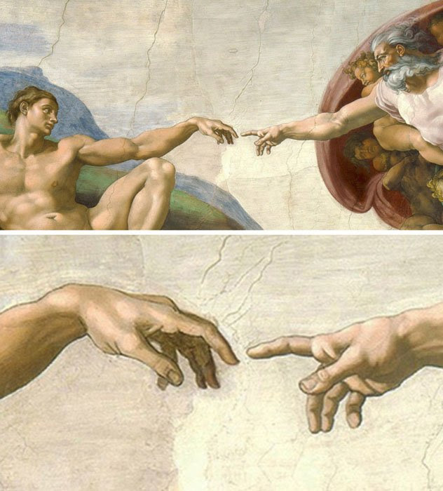 Painting by Michelangelo