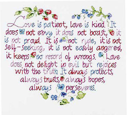 Love Is Patient Love Is Kind 1 Corinthians 134 8