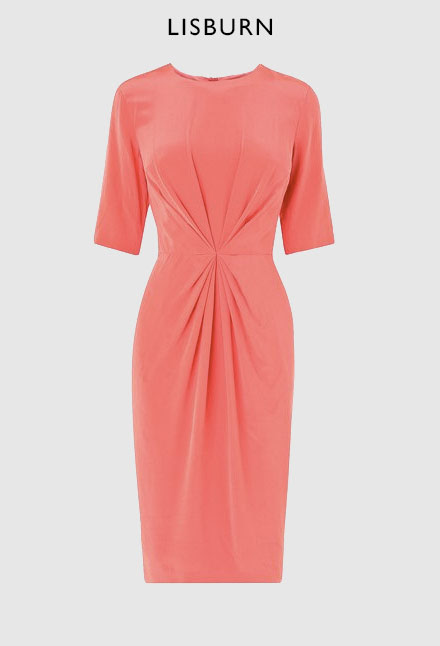 L.K. Bennett Lisburn Pleat Detail Dress