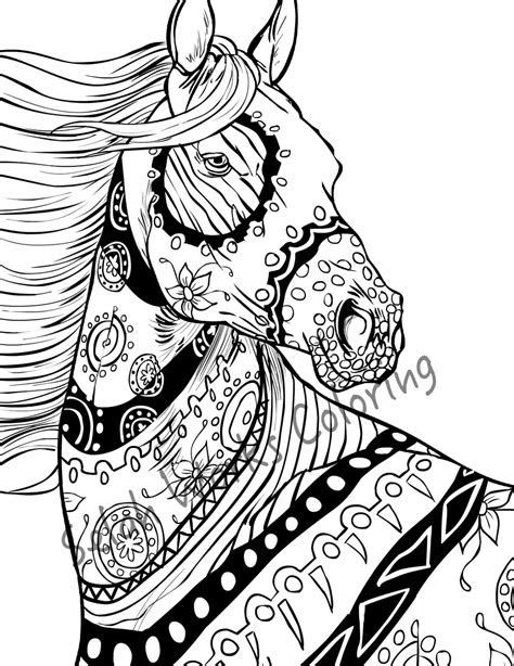 printable horse coloring pages  adults