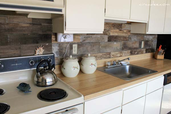 15 Inexpensive DIY Kitchen Backsplash Ideas and Tutorials ...