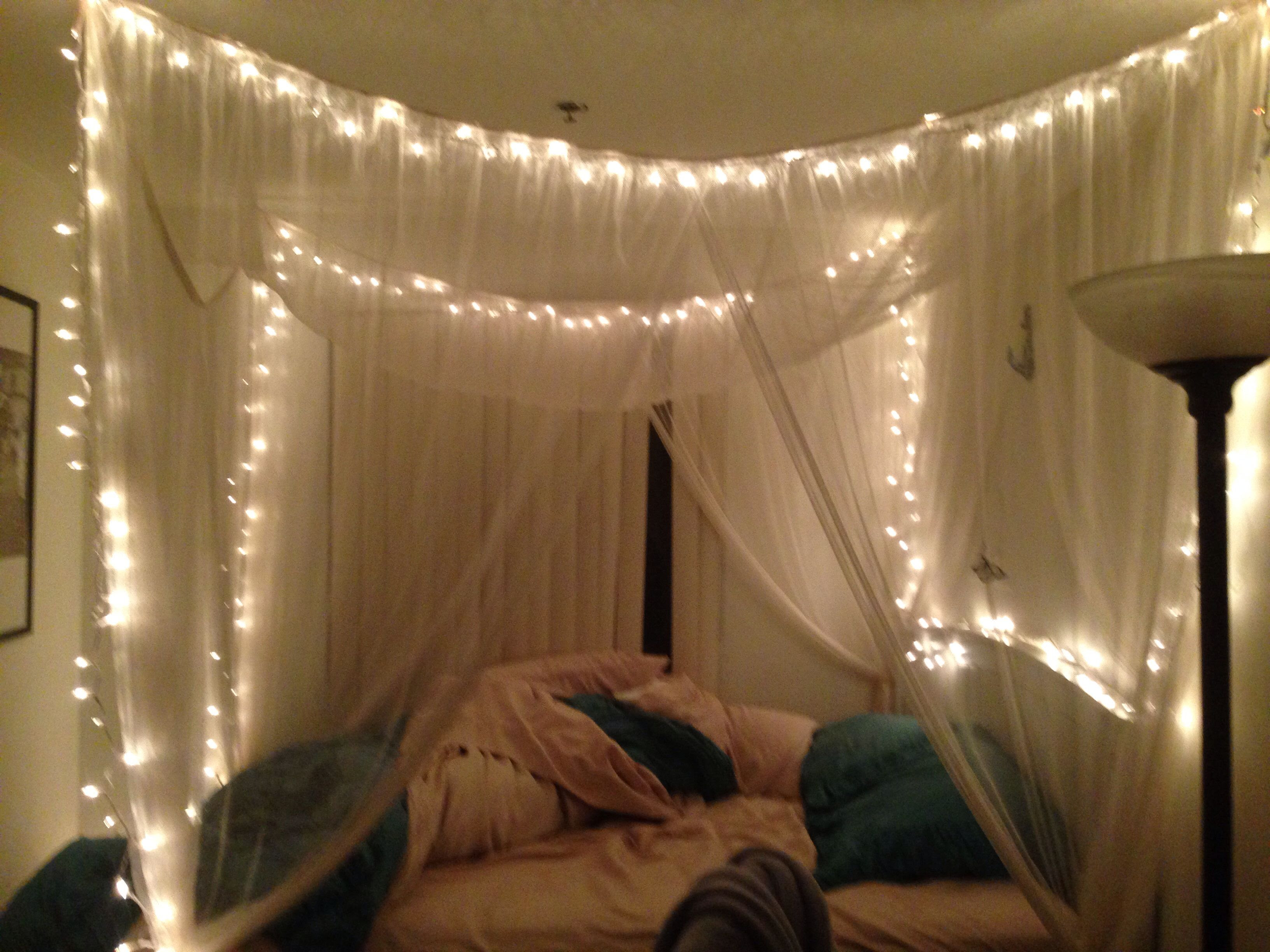 Bed Canopy With Fairy Lights Bangdodo