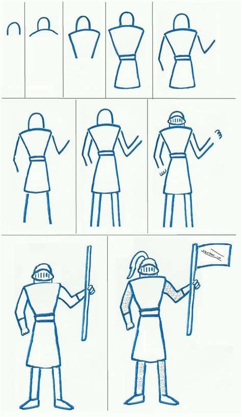 easy knight  draw art class ideas art project sites