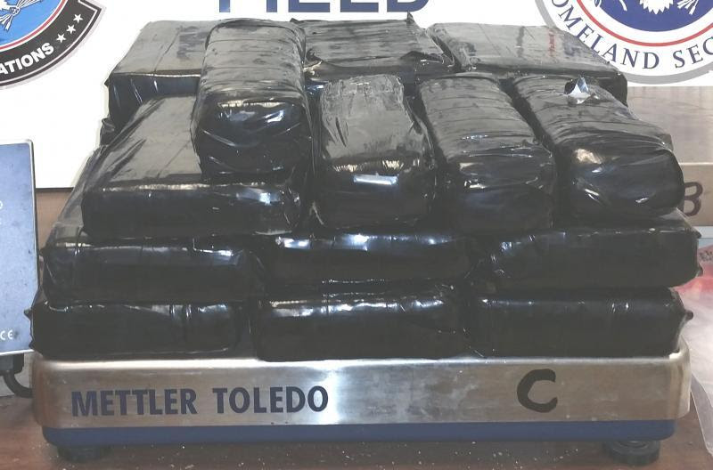 Packages containing nearly 45 pounds of cocaine seized by CBP officers at Hidalgo/Pharr/Anzalduas Port of Entry