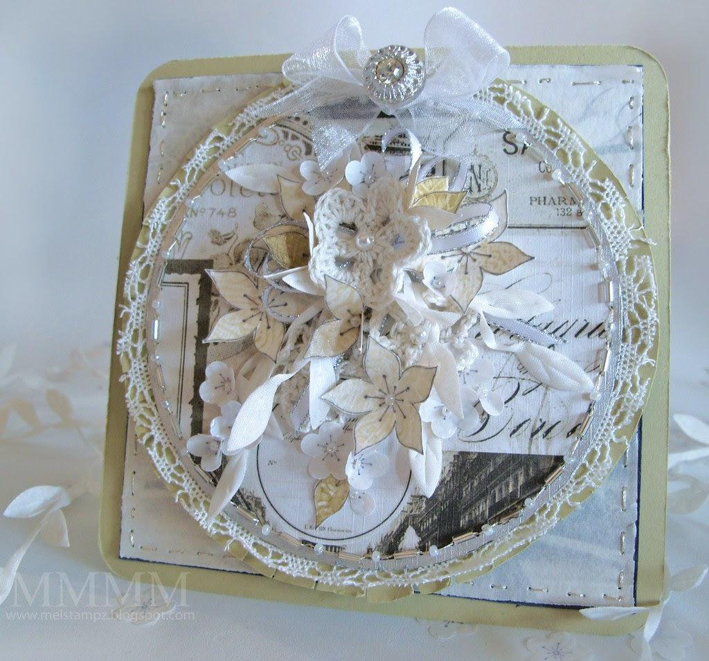Caardvarks Wedding card mel stampz