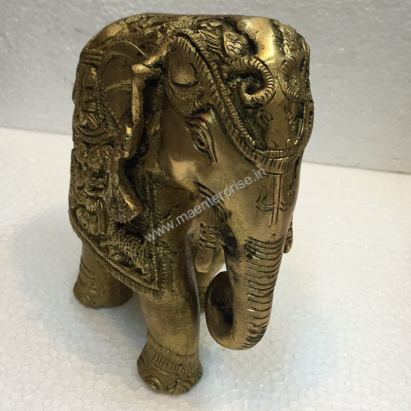 Brass Elephant Statue Antique Look For Home Decor