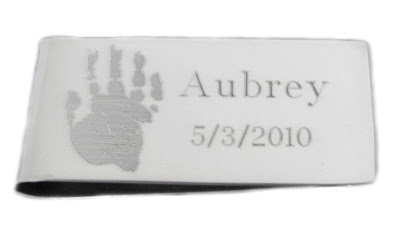 MoneyClip for Custom Handprints or Footprints
