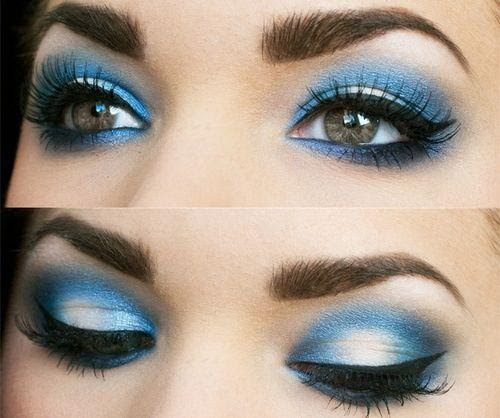Makeup eyes blue