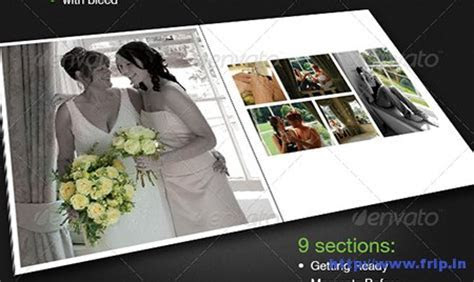 30 Best Wedding Photo Album Print Templates   Frip.in