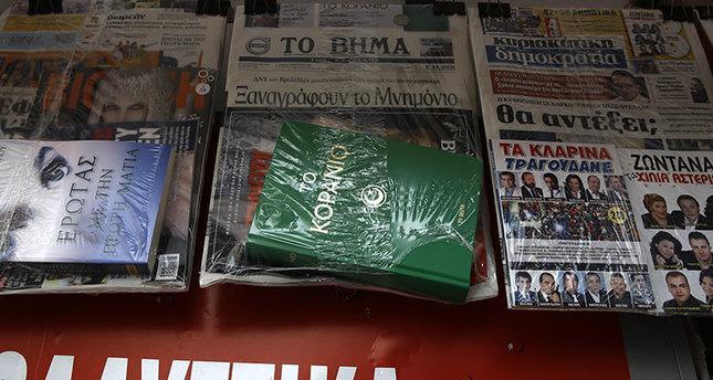 Koran Terkemuka Yunani Bagikan Al-Qur'an Gratis kepada Para Pembacanya