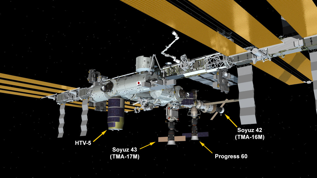Aug. 28, 2015 International Space Station Configuration