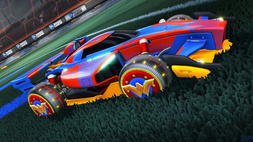 DC Super Heroes content hittting Rocket League next month screenshot