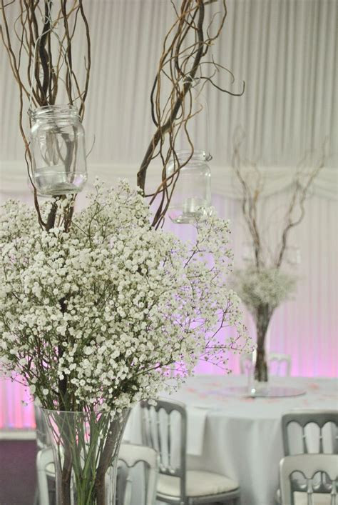 tall vases with baby's breath   Google Search   Centre de