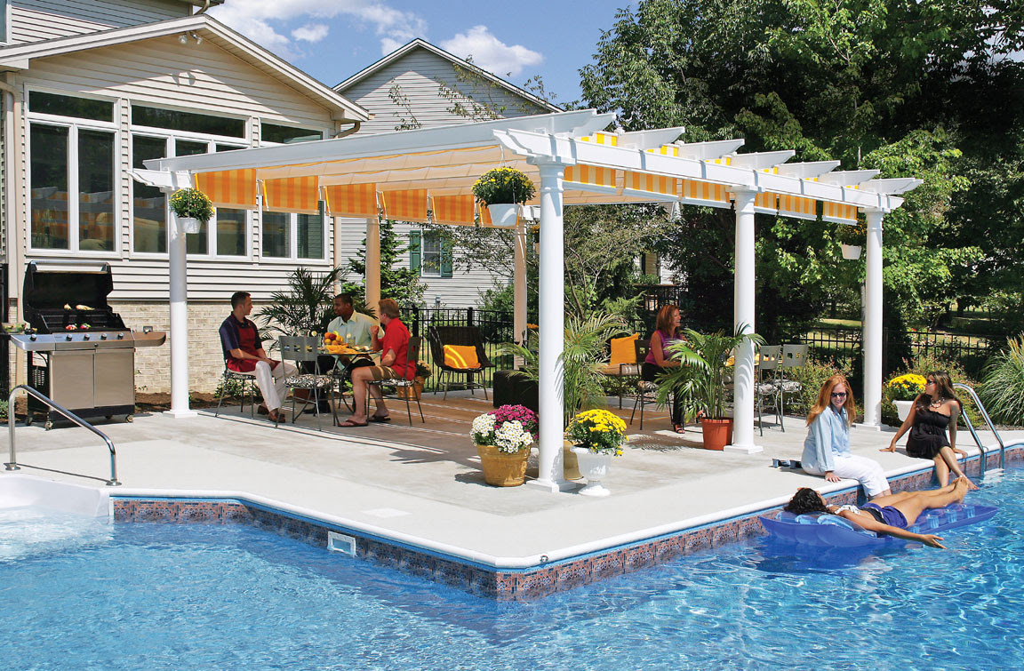 Low Maintenance Vinyl Pergolas | Building a Pergola - ShadeTree
