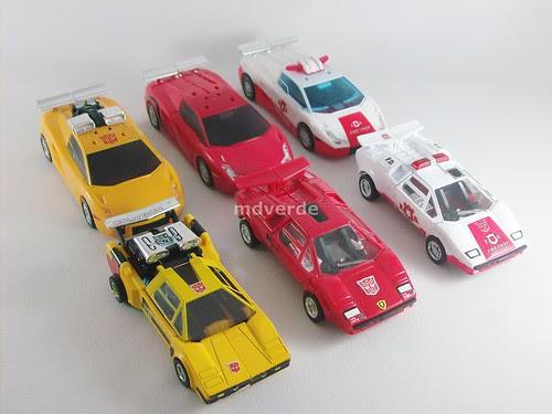 Transformers Red Alert Classics Henkei vs. Lamborghinis - modo alterno