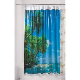 Essential Home Shower Curtain Hawaii Vinyl - Bed & Bath - Shower ...