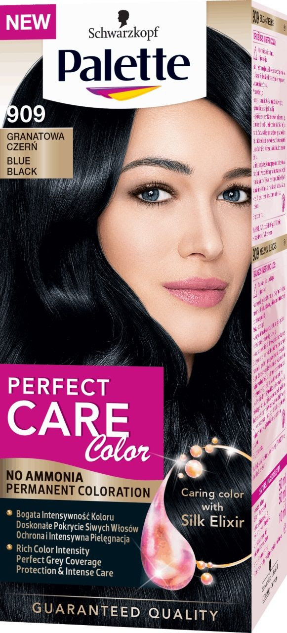Schwarzkopf Palette Perfect Care Color Hair Color 909 Blue Black :: Matu kr\u0101sas :: Sievie\u0161u matu