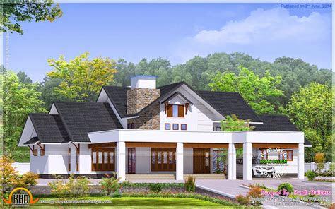 elegant bungalow elevation kerala home design  floor