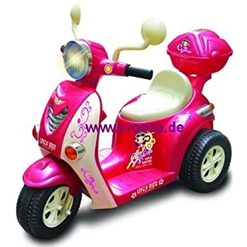 pas cher crooza moto scooter voiture v hicule lectrique pour enfant porteur v lo rose. Black Bedroom Furniture Sets. Home Design Ideas